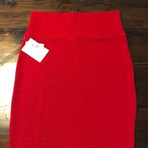 Lularoe Cassie skirt NWT size M red